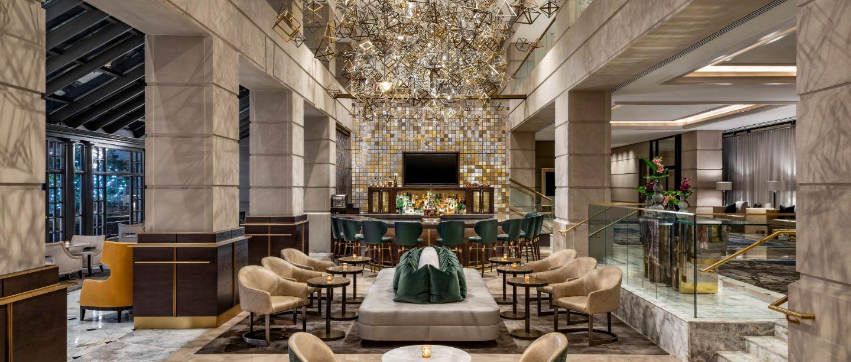 Fairmont Lobby Bar And Courtyard Fairmont Washington D C Georgetown Fairmont Luxury Hotels Resorts